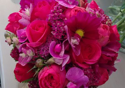 Pink! Rosen, Cosmeen, Schafgarbe und Staudenwicken